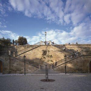 Karlův most, rekonstrukce bočního schodiště na Kampu
