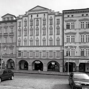 Fasáda bývalého hotelu Slunce, České Budějovice