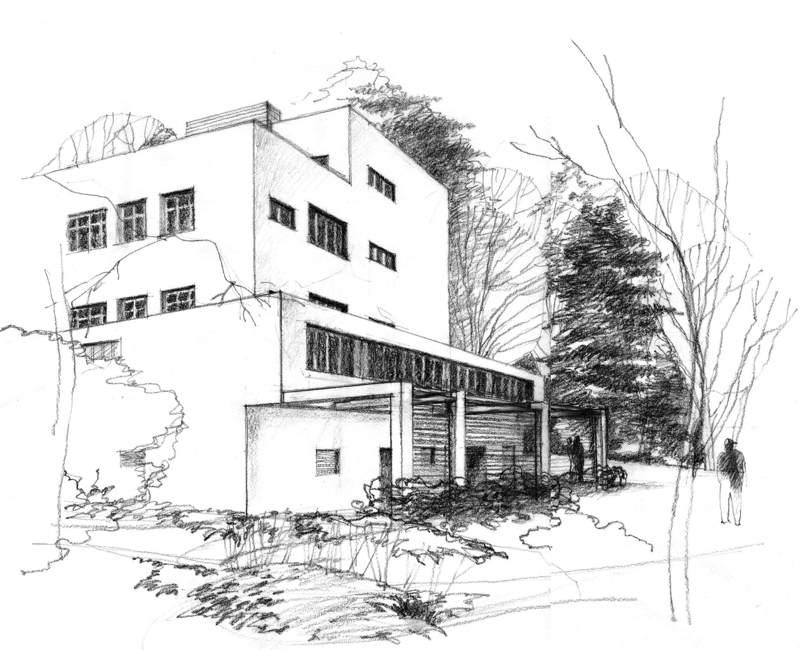 Skica ambulantního příjmu, Pírkovo sanatorium, Mladá Boleslav