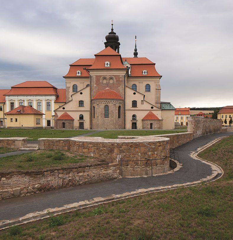Závěr baziliky Nanebevzetí Panny Marie z románského období, Velehrad