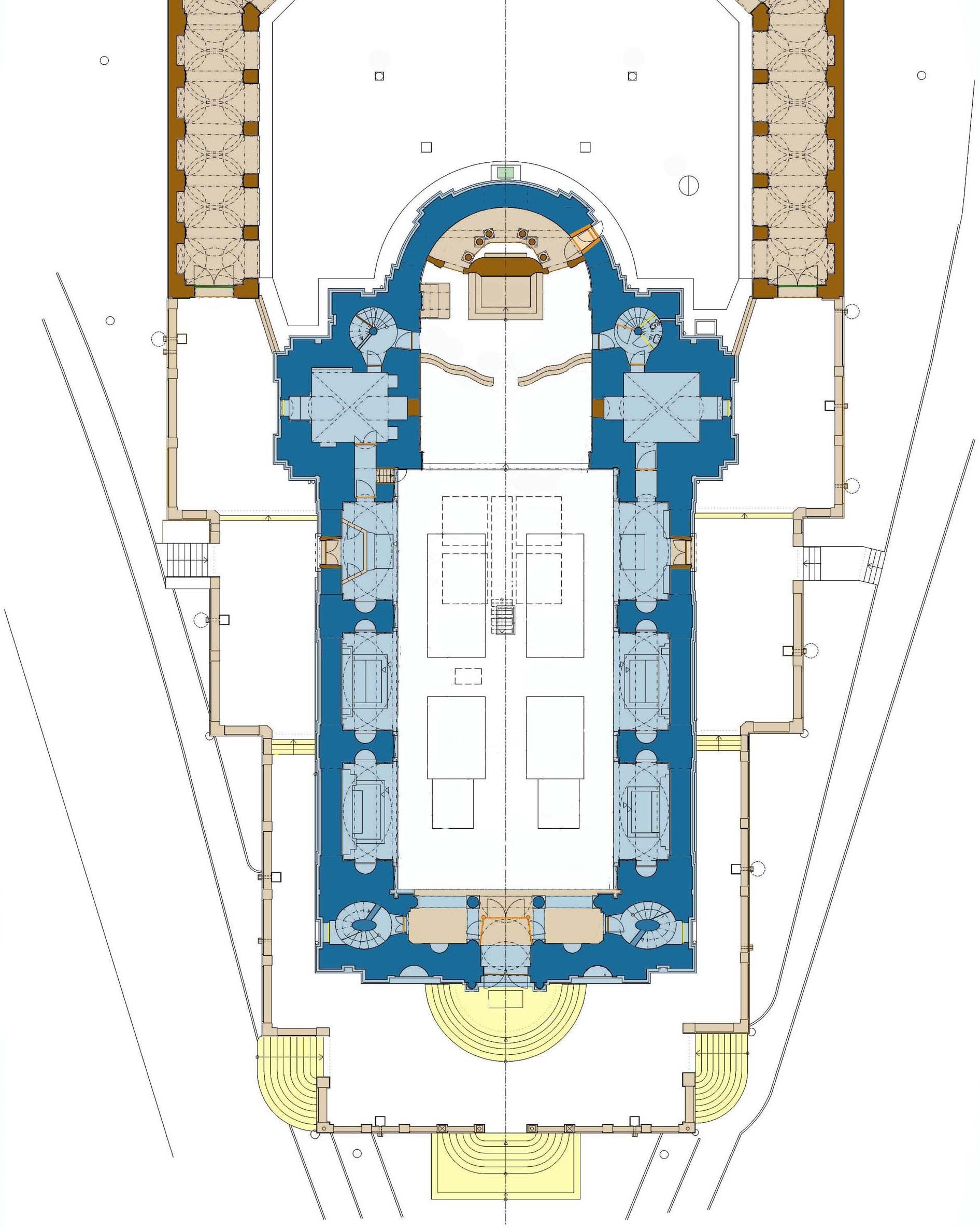 Stavebně-historický průzkum kostela Nanebevzetí Panny Marie, Stará Boleslav, přízemí